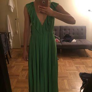 Zara Pleated Full Length Dress